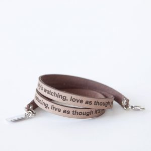 Words from the heart armband, zand-0
