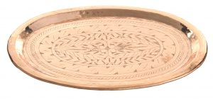 Alu Tray, engraved oval,C-1337