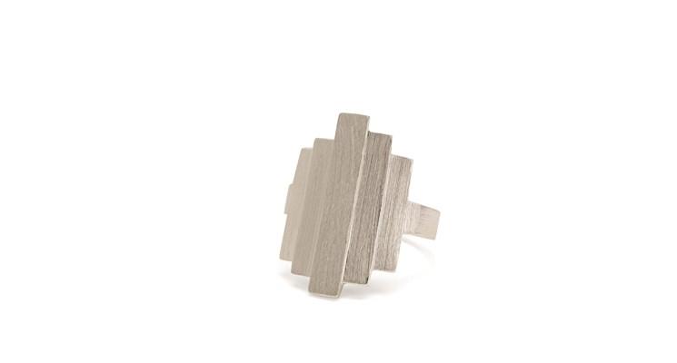 Pernille Corydon Brick Ring Zilver-0