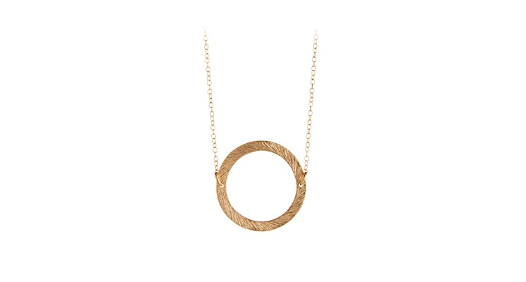 Pernille Corydon Small Open Coin Necklace-0