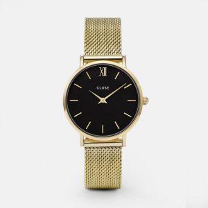 Cluse Minuit Mesh Gold/Black-0