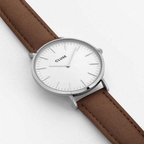 Cluse La Bohème Silver White/Brown-1403