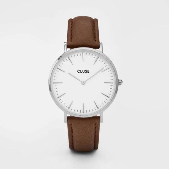 Cluse La Bohème Silver White/Brown-0