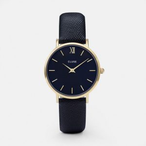 Cluse Minuit Gold/Midnight Blue-0